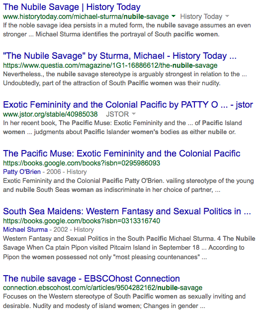 Google search results: nubile pacific women