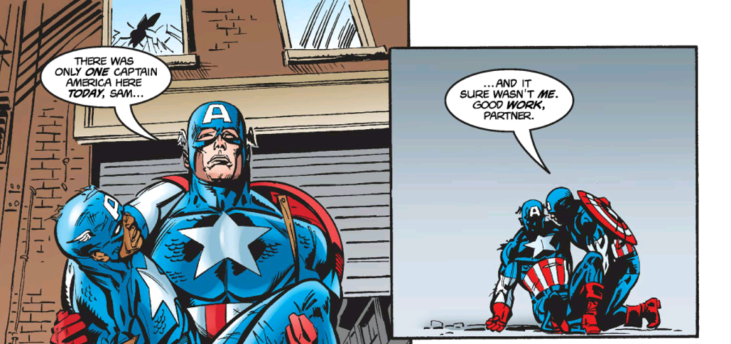 """""""There was only one Captain America here today, Sam."""""""